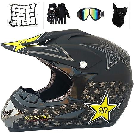Mit Handschuhe Sturmmaske Und Brille Geeignet Sturzhelm Schutzhelm Jugend Kinder Dirt Bike Helme Enduro Helme,motocross Fahrradhelm Vier Jahreszeiten Universal Motocross Helm