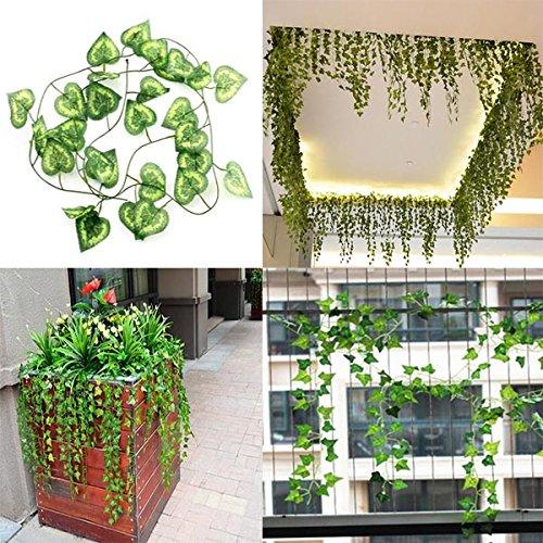 2.3m artificielle Ivy Coeur Green Leaves Garland Accueil Jardin Décoration
