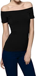 Women's Long/Short Sleeve Vogue Fitted Off Shoulder Modal Blouse Top T-Shirt