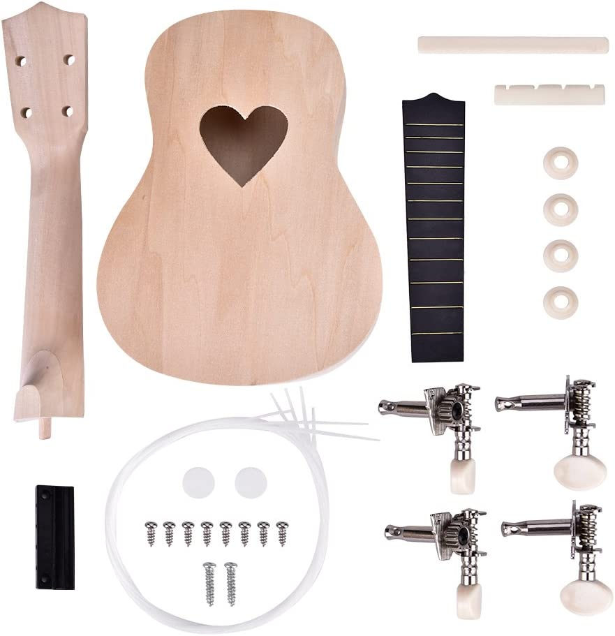 DIY Ukulele Kit 21inch Animer and price revision Instru Sale String 4 Basswood