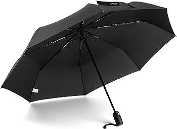 Conor Compact Travel Umbrella with Auto Open/Close Button