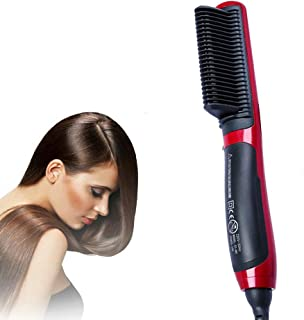 Hair Straight Styler, Hair Straightening Brush Ceramic Comb