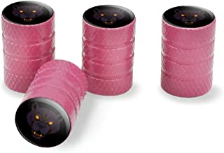 Graphics and More Black Panther Leopard Jaguar Face Tribal Tire Rim Wheel Aluminum Valve Stem Caps - Pink