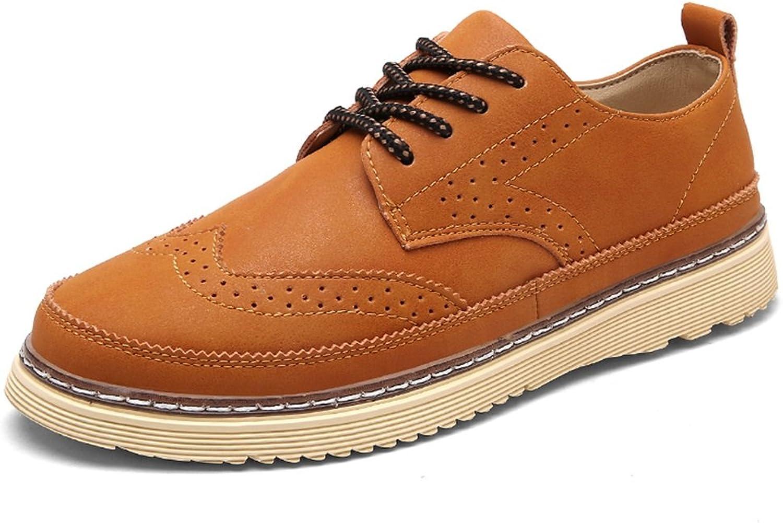 Feifei Men's shoes Winter Fashion Casual Retro Leather shoes 3 colors (color   03, Size   EU40 UK7 CN41)