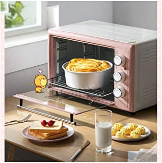 LYQ hornos de Cocina Parrilla eléctrica,para Uso de sobremesa - Hornos tostadores de Calentamiento rápido de 1500 W (Rosa)