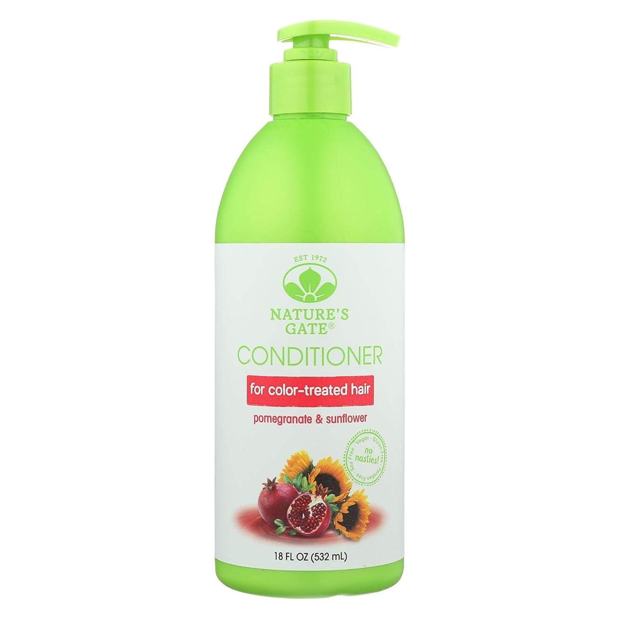 放棄された聴く物思いにふけるNature's Gate, Conditioner, Hair Defense, Pomegranate Sunflower, 18 fl oz (532 ml)