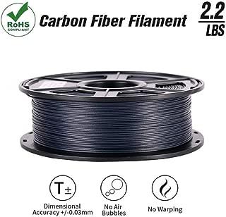 SunTop 3D Carbon Fiber PLA Filament 1.75mm, Rohs Compliance, 1 kg (2.2lbs) Spool, Dimensional Accuracy +/- 0.03 mm,Black
