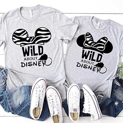 Matching Family Mickey Minnie T-Shirts Animal Kingdom Zebra Unisex Kids Baby Adult Couples Shirts