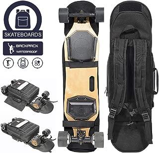 MUTTUS Premium Electric Skateboard, Electric Longboard & Skateboards Backpack Bag, Detachable, Waterproof, Backlight Enable, Fashion, Universal & Flexible to Most Brand Skateboards or Eboards