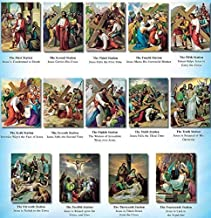 VILLAGE GIFT IMPORTERS Full Set of Stations of The Cross Prints by Vicentini, 8