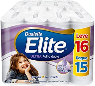 Papel Higiênico Elite Dualette Folha Dupla Ultra, 16 rolos