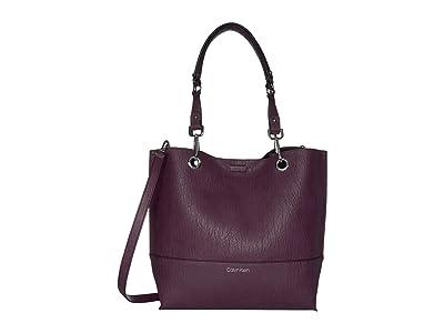 Calvin Klein Sonoma Reversible Novelty Tote (Aubergine) Tote Handbags