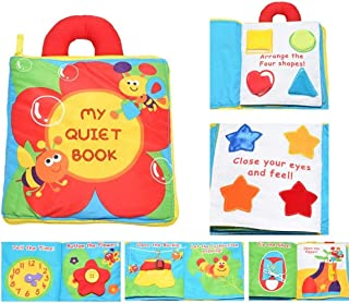 SKEIDO Kids 12 pages Soft Cloth Baby Boys Girls Books Rustle Sound Infant Educational