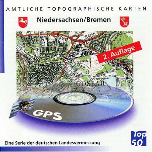 Top 50. Niedersachsen, Bremen. Amtliche topographische Karten. CD-ROM für Windows ME/NT4.0/SP6/2000/XP.