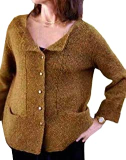 Womens Button Down Long Sleeve Soft Knit Cardigan Sweaters with Two Pocket