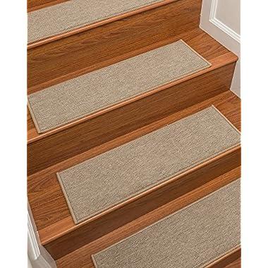 NaturalAreaRugs Kenya Polypropylene Carpet Stair Treads Beige, 9  x 29  Set of 13