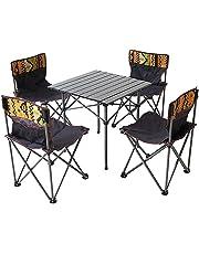 INEKI テーブルチェアセット 5点 椅子 背もたれ付き ピクニック アウトドア キャンプ レジャー 専用キャリーバッグ 収納袋 アルミ テーブル チェア セットレジャー キャンプ ベンチセット 防災 地震対策