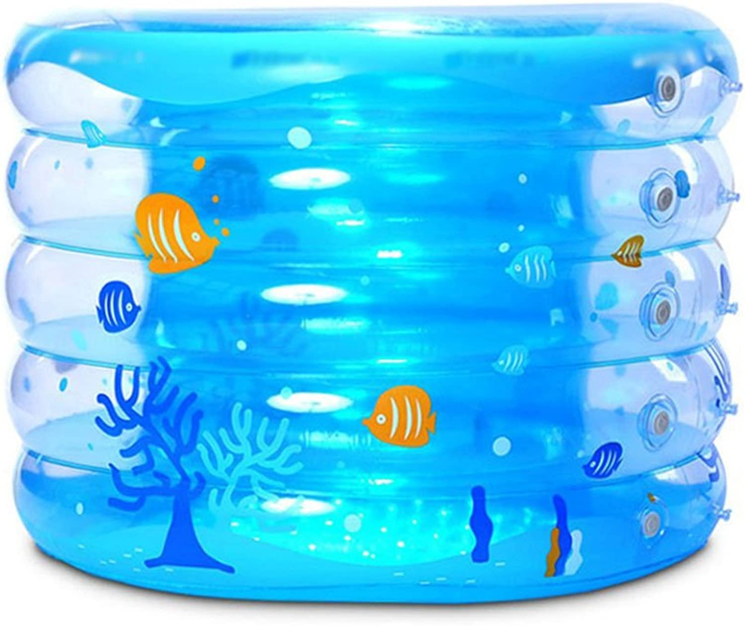 Bathtubs Soaking Baths Baby swimming pool Thicken inflatable Non-toxic environmental predection Good insulation effect 95 × 70cm (37.4  27.6 inches) (Size   Electric pump)