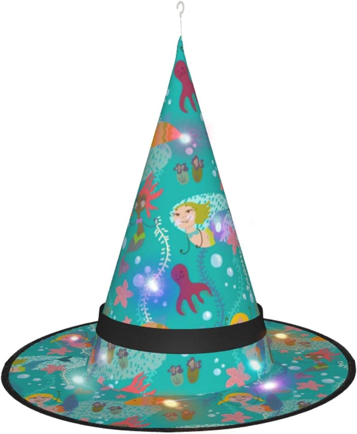AJUNJUNPAI free Free shipping / New Cute Mermaid and Seaweed Colour Halloween Hat Glowing