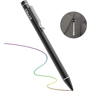 Gouler タッチペン 極細 タブレット スタイラスペン iPad iPhone アルミ製 約12.5g ツムツム USB充電式 5分間自動オフ タッチペンスタイラス 樹脂製 極細ペン先1.6mm (ブラック)