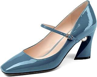 Nine Seven Women's Leather SquareToe Heel Shoe
