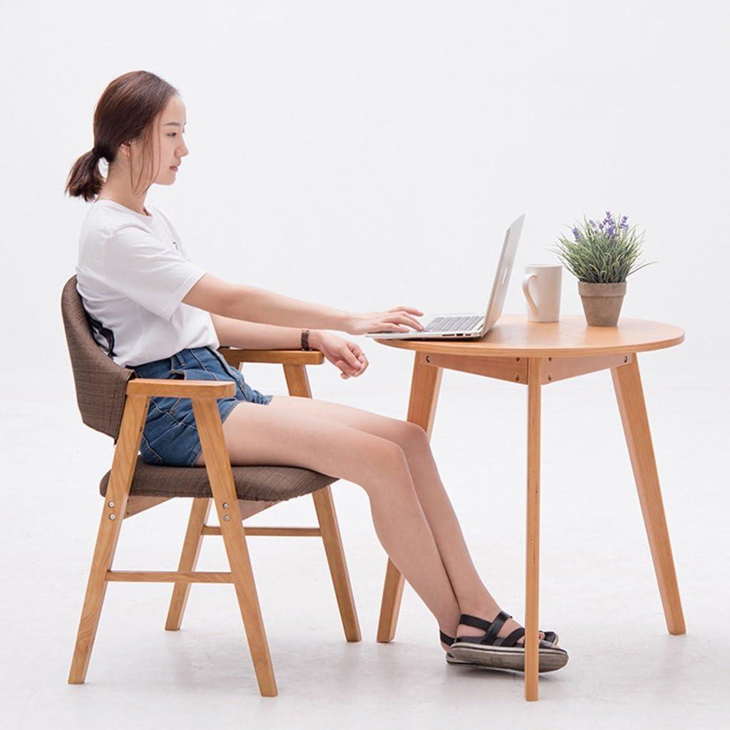 Bois massif avec accoudoirs, chaise de salle à manger en tissu, chaise de salon d'étude, tabouret à la maison. (Couleur : 4) 10