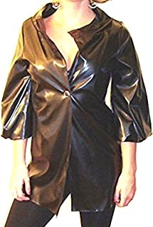 Final Sale! NO Returns! Crop Sleeve Faux Patent Leather Trench Coat