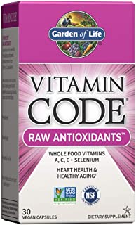 Garden of Life Antioxidant - Vitamin Code Raw Whole Food Vitamin Supplement with Probiotic and Enzyme Blend, Vegan, 30 Cap...