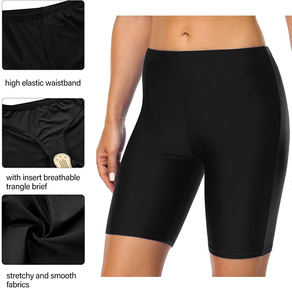 Firpearl Women's Swim Shorts UPF50+ Sport Board Shorts Plus Size Tankini Swimsuit Bottom