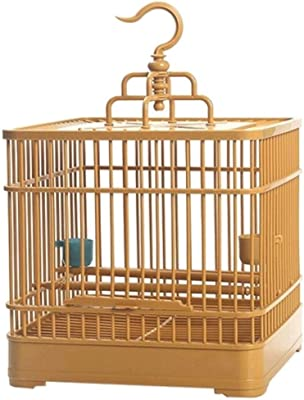 liushop Bird Cage Quality Plastic Bird Cage Creative Parrot Canary Bird Cage Pet Supplies Bird Travel Cage