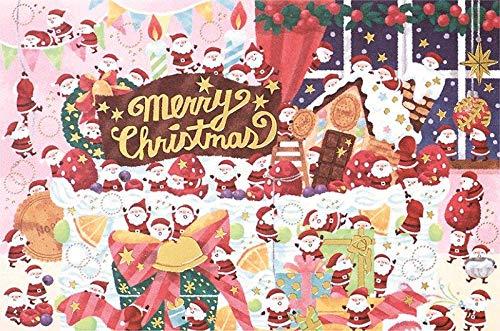 学研 クリスマスカード ミニサンタカード(ケーキ)X16-017