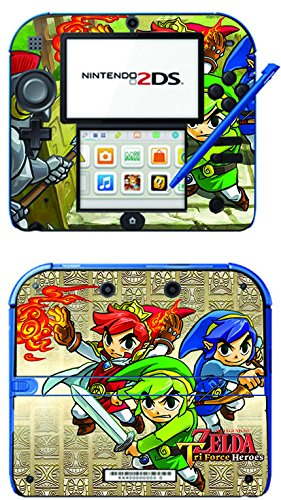 The Legend of Zelda: Tri Force Heroes Heros Game Skin for Nintendo 2DS Console