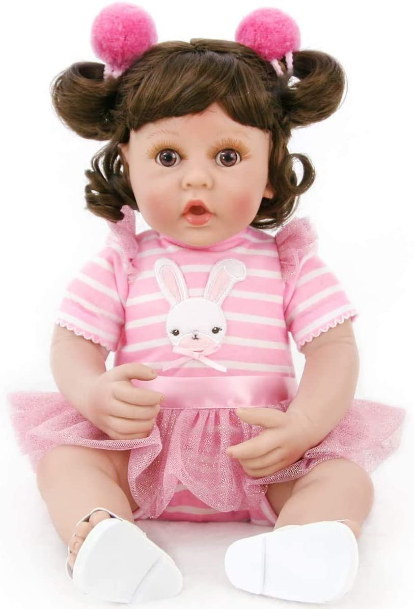 PURSUEBABY Weighted Reborn Baby latest Doll Bunny Chicago Mall Inch Pink 16 Realisti