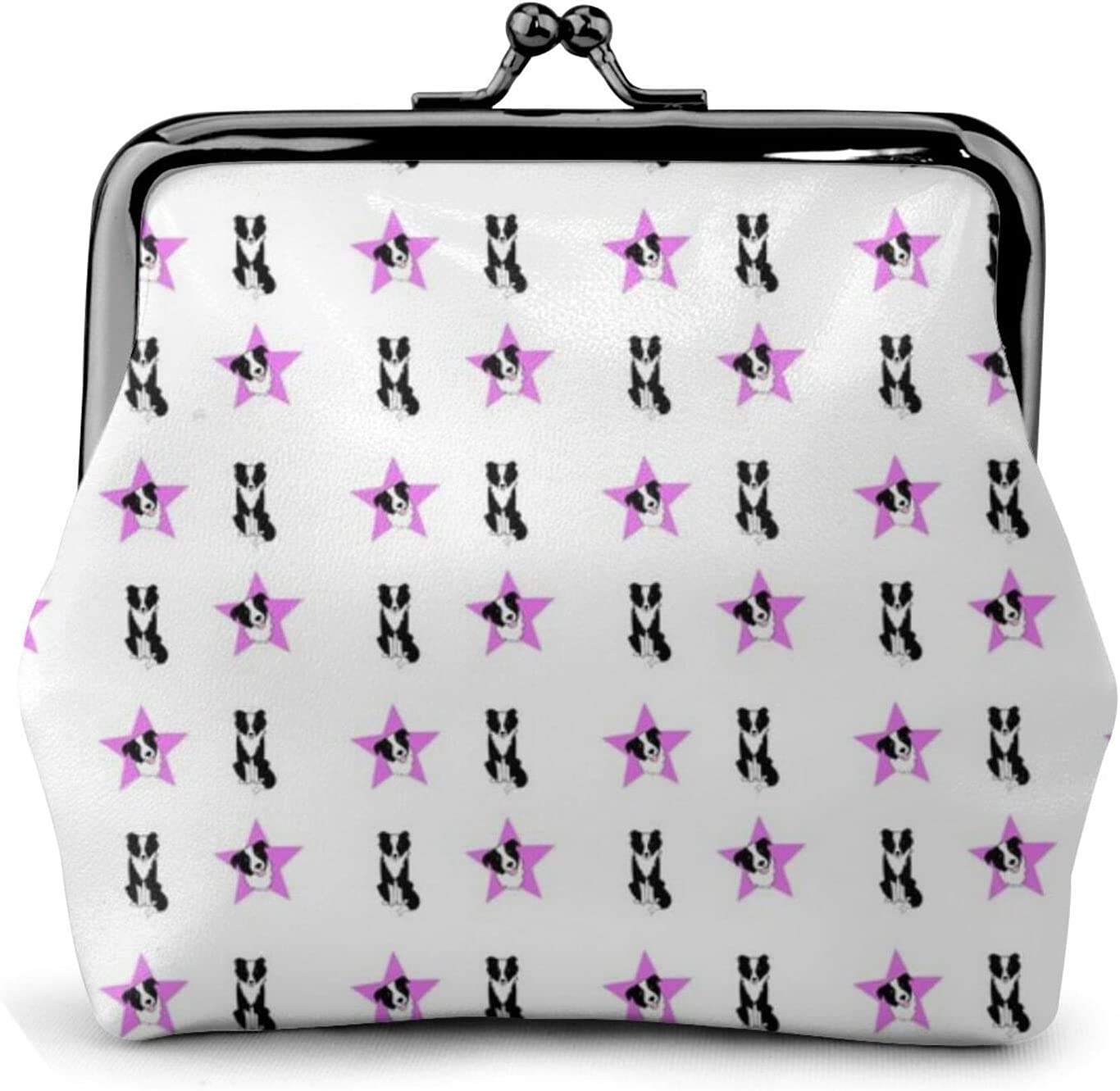 Border Collies And 861 Women'S Wallet Buckle Coin Purses Pouch Kiss-lock Change Travel Makeup Wallets, Black, One Size