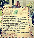 LOVINSUNSHINE Birthday Gift to Daughter from Mom Love Letter to Daughter Gift from Mom to My Daughter Sherpa Blanket from Mom Encouragement Gifts for Daughter 50x60…