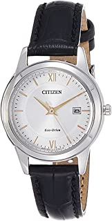 Citizen Women White Dial Leather Band Watch - Fe1086-12A