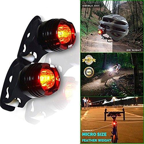 Marxways - Juego de 2 luces traseras para bicicleta (LED, 3 modos, impermeable, color negro, para conductores nocturnos, seguro y de montaña)