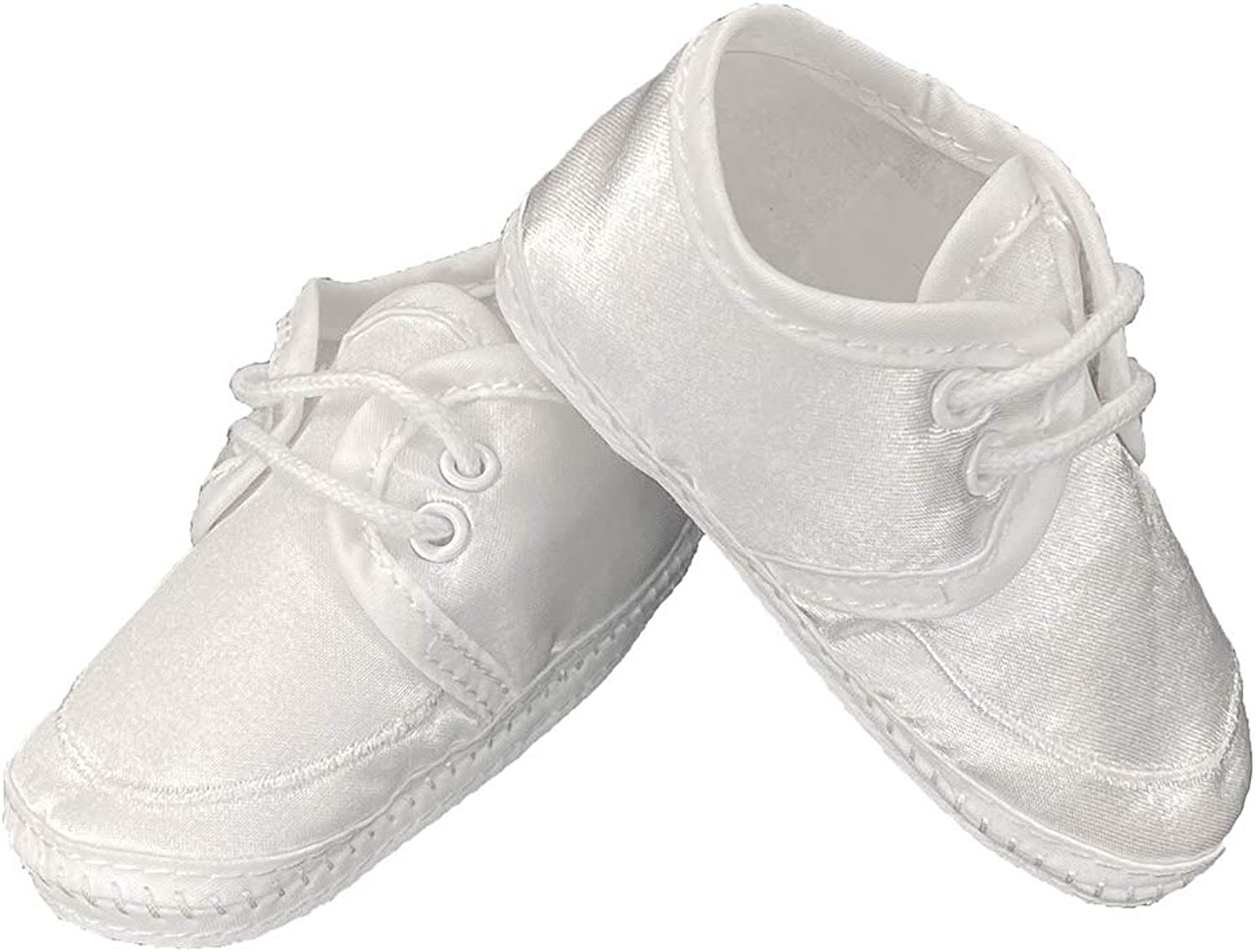 Baby Boy Satin Bootie Perfect for a Christening Baptism or Any Special Occasion