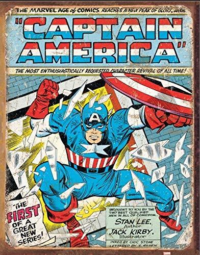 Jard-Baby Captain America Comic Cover Metall Zeichen 400mm x 310mm (de)