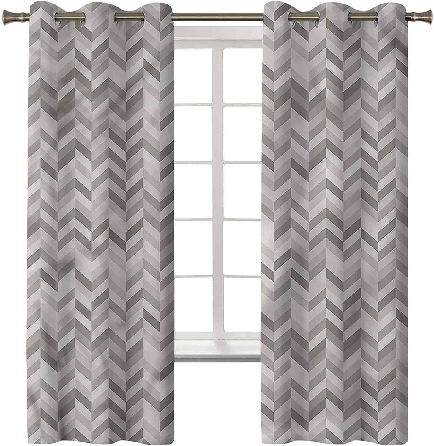 Chevron Curtains for Living Room Set of B 42 Inch Max 40% OFF Panels 2 Max 83% OFF 84 x
