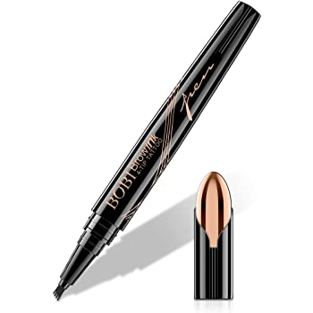 Eyebrow Pencil - Tattoo Eyebrow Pen with Fork Tip Long-lasting Waterproof Tatbrow Pen and Smudgeproof Brow Pen for Naturally Defined Eyebrows(Dark Brown)