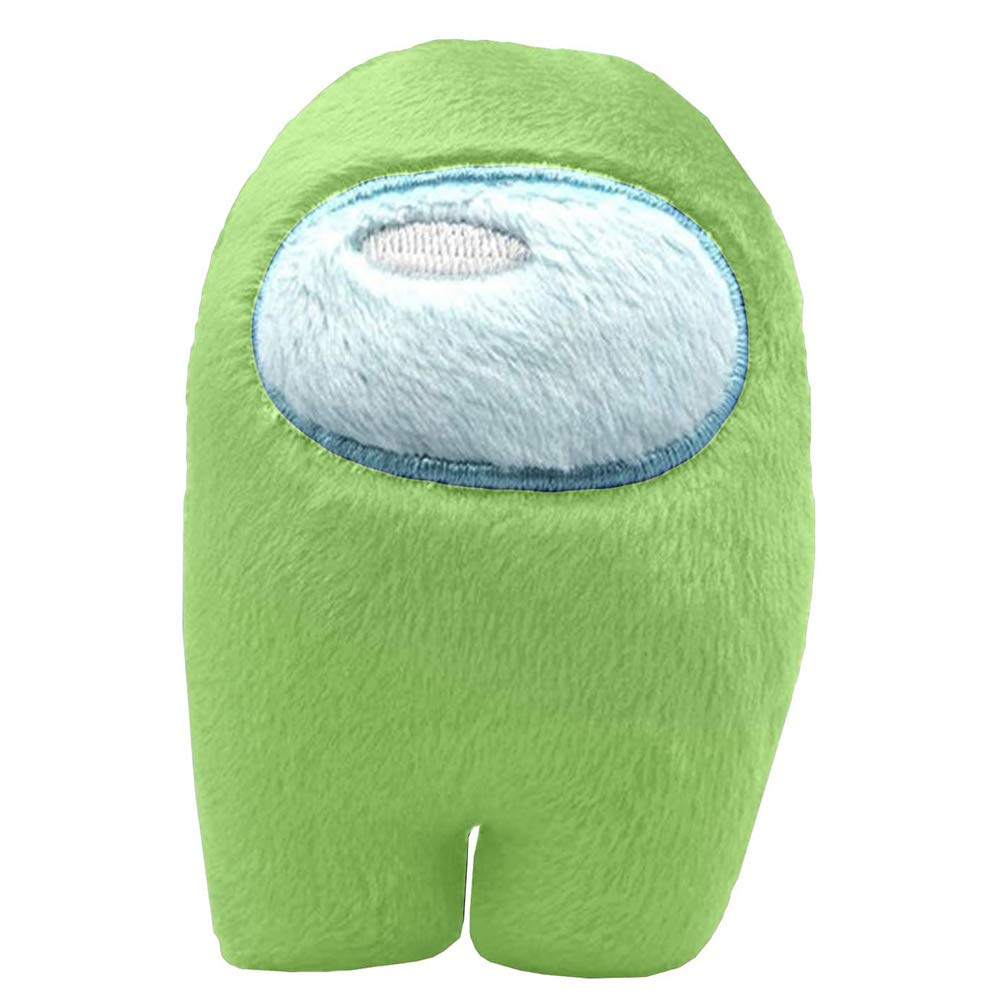 Esptula Cute Merch Crewmate Stuffed Plush Toy Action Game Figures Soft Doll for Among Us Game Fans Cyan