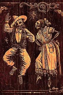 Danzantes by Marco Almera Spanish Dancing Sugar Skull Framed Art Print