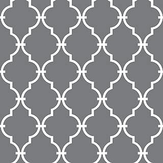 RoomMates Grey Modern Trellis Peel and Stick Wallpaper