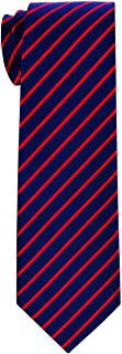 Retreez Thin Regimental Striped Woven Boy's Tie - 8-10 years - Various Colors