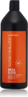 MATRIX Total Results Mega Sleek Shampoo | Controls Frizz & Smooths Hair | with Shea Butter | for Unruly Hair