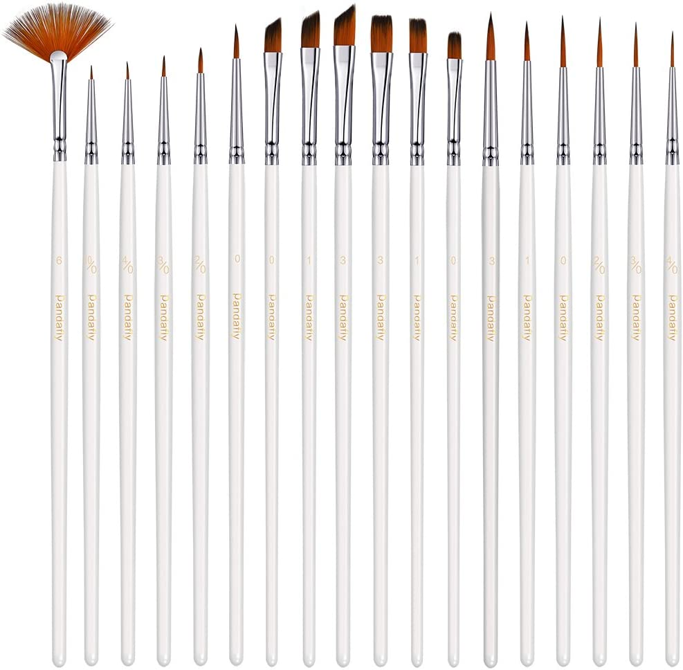 PANDAFLY Popularity 18 Popular standard Pieces Fine Detail Brush Paint Br Painting Miniature