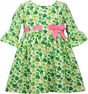 Girl's St Patrick's Day Dress - Green Shamrock Dress for Baby, Toddler and Little Girls