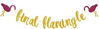 Gold Glittery Final Flamingle Banner- Hawaii Luau Party Tropical Party Bachelorette Wedding Party Decoration Supplies