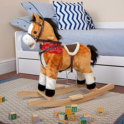 Wido Kids Plush Rocking Horse With Moving Mouth and Sounds Ages 3 plus